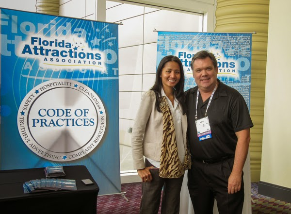 Rosemarie Young of Reserve Direct and Mike Donaldson of Florida Attractions Association