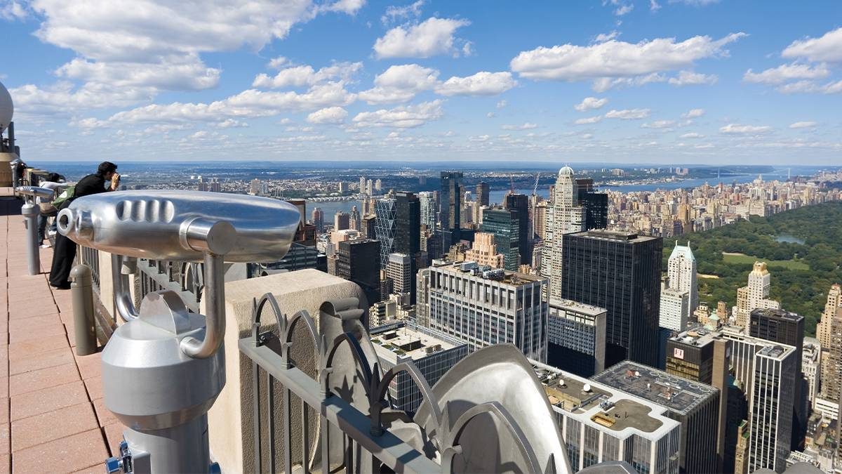 View of the city from Top of the Rock - NYC, New York, USA