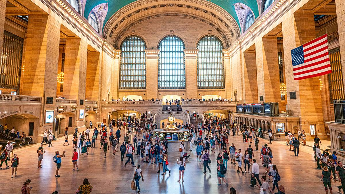 People inside Grand Central Station - NYC, New York, USA