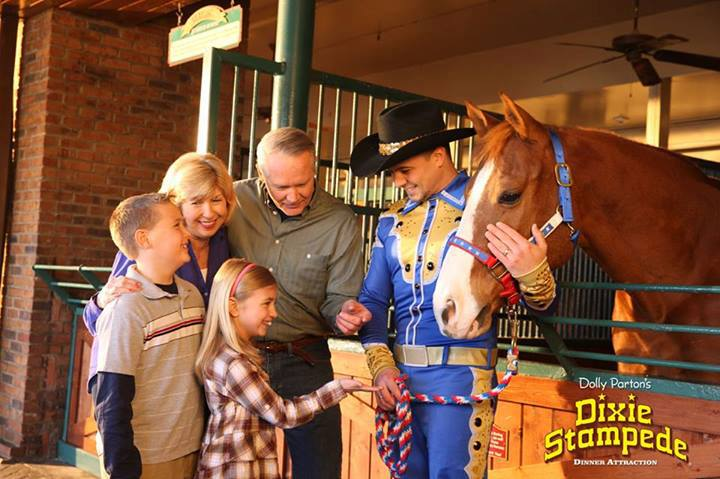 Family with Horse at Dolly Parton's Stampede - Branson, Missouri, USA