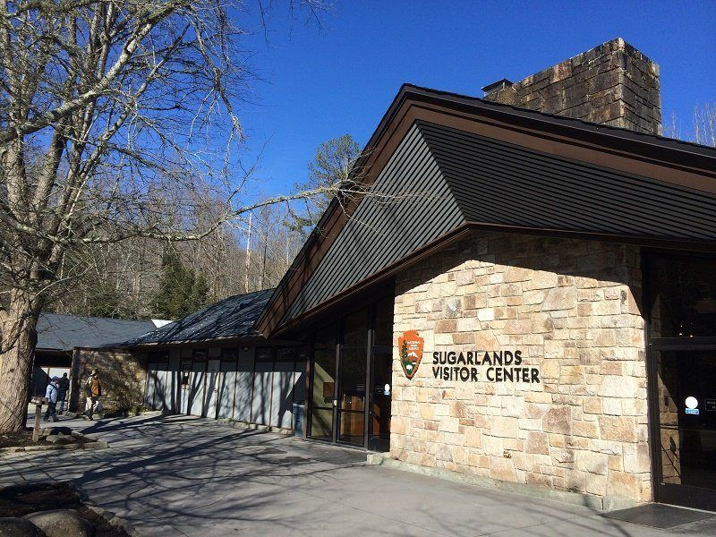 outside view of sugarlands visitor center