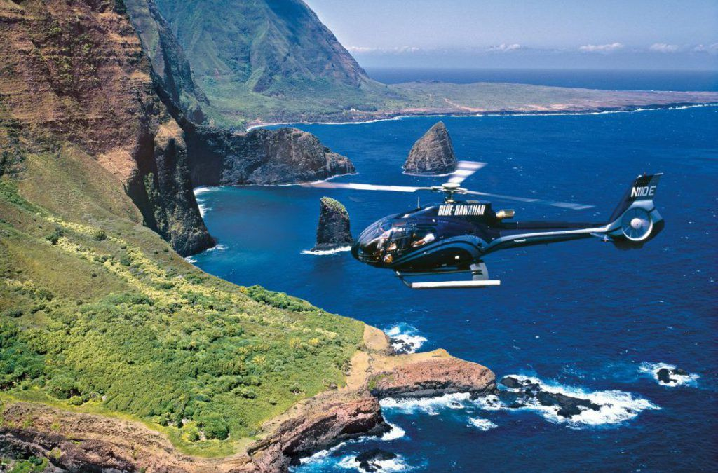 A helicopter tour is also among the best things to do in Maui